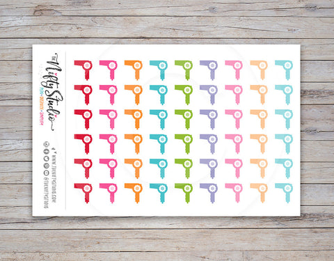 Hair Dryer Planner Stickers