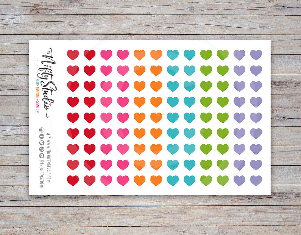 Hearts Planner Stickers [128]