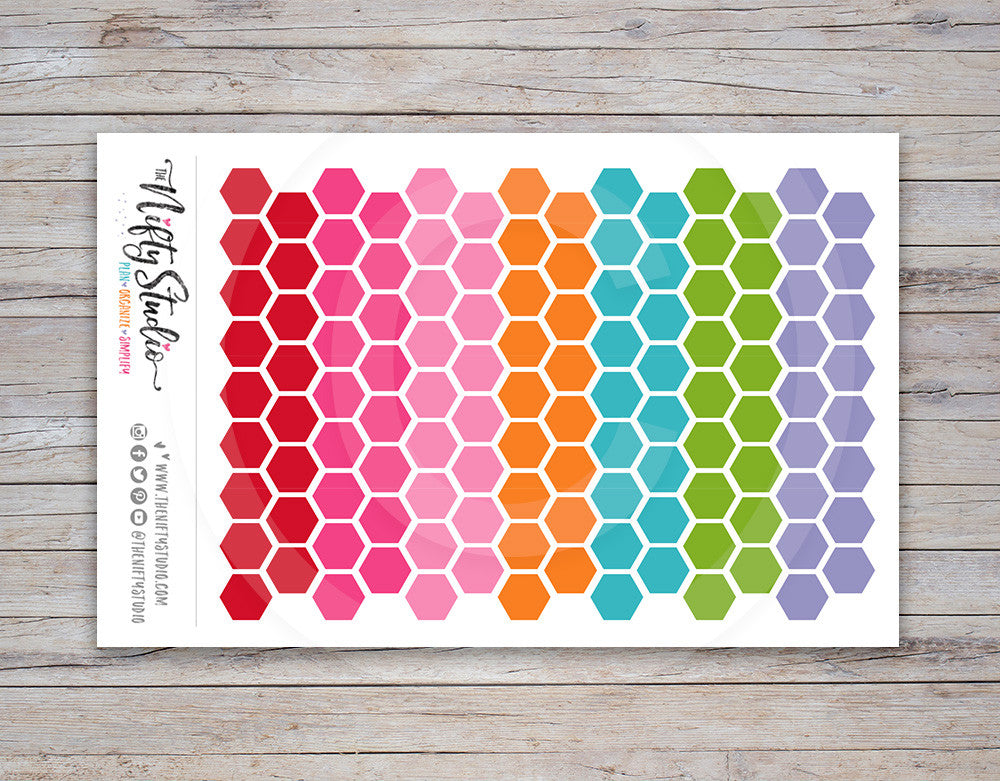 Hexagon Planner Stickers [133]