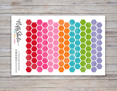 Hexagon Planner Stickers