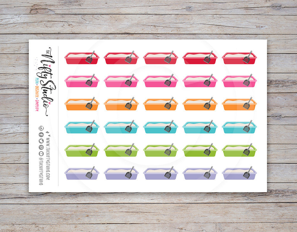 Litter Box Planner Stickers