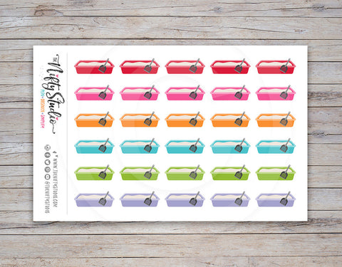 Litter Box Planner Stickers [137]