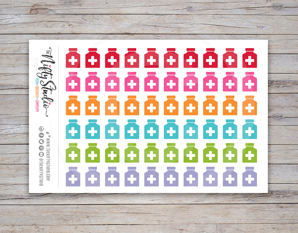Medicine Bottle Planner Stickers [149]