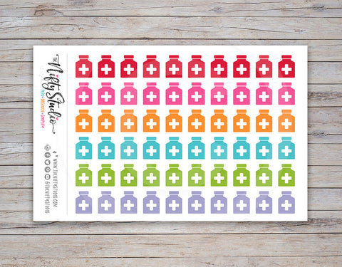 Medicine Bottle Planner Stickers