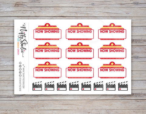 Movie Night Planner Stickers [140]