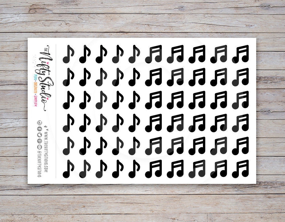 Music Note Planner Stickers
