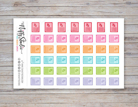 Prescription Planner Stickers
