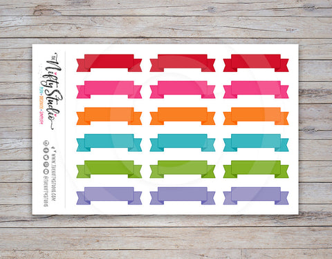 Ribbon Planner Stickers Dark