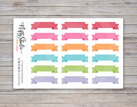 Ribbon Planner Stickers Light