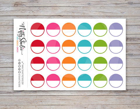 Round Label Planner Stickers
