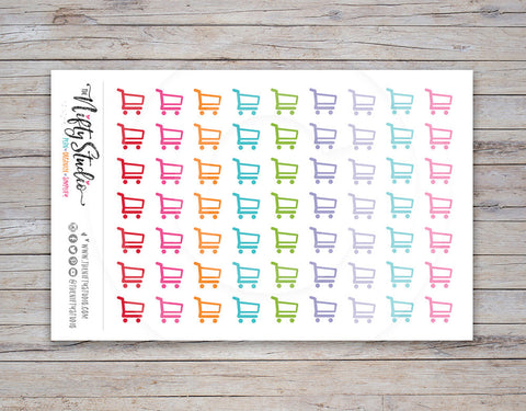 Shopping Cart Planner Stickers [160]