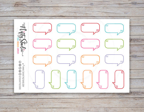 Talk Bubbles Small Planner Stickers [172]