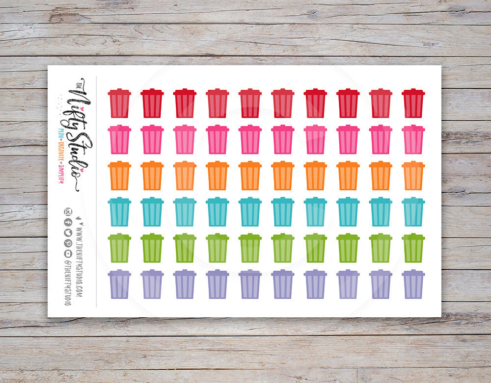 Trash Night Planner Stickers [166]