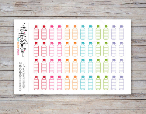 Water Tracking Planner Stickers