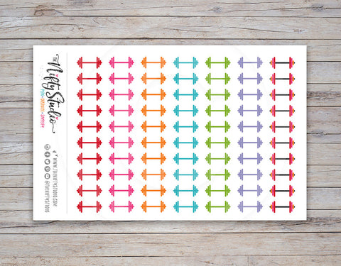 Weightlifting Workout Planner Stickers