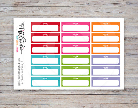 Work Schedule Planner Stickers [169]