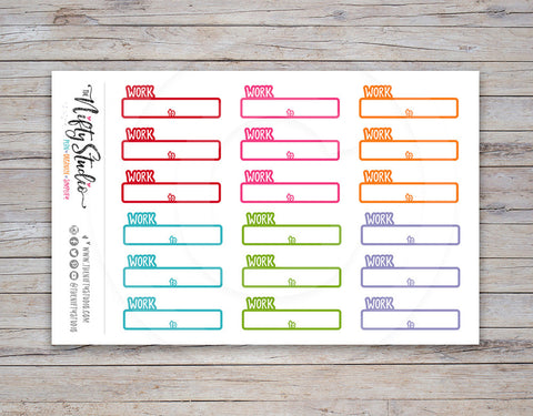 Work Schedule Planner Stickers [170]