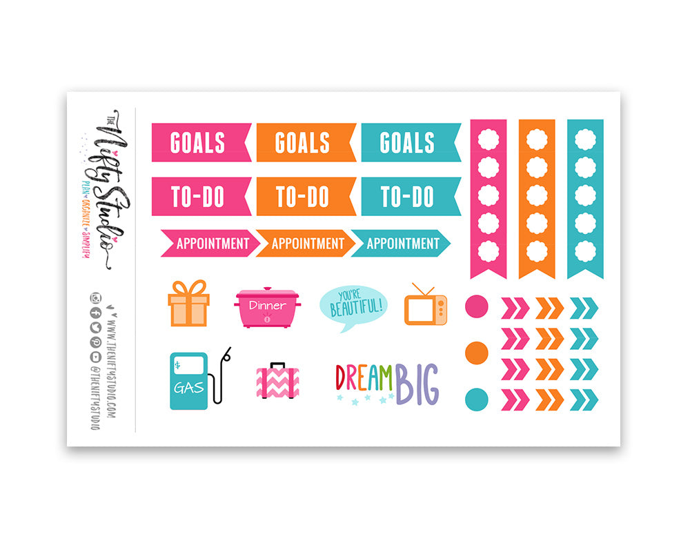 Sampler Sheet Planner Stickers [173]
