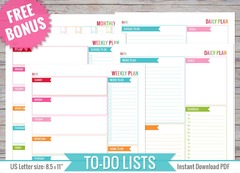 photograph relating to Printable Lists known as Towards Do Lists Inserts Printable
