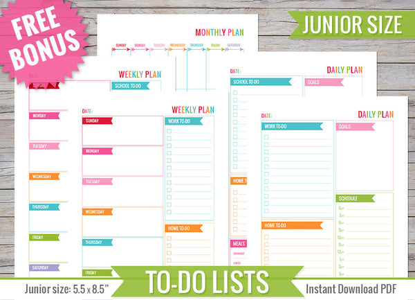 To Do Lists JR Inserts Printable