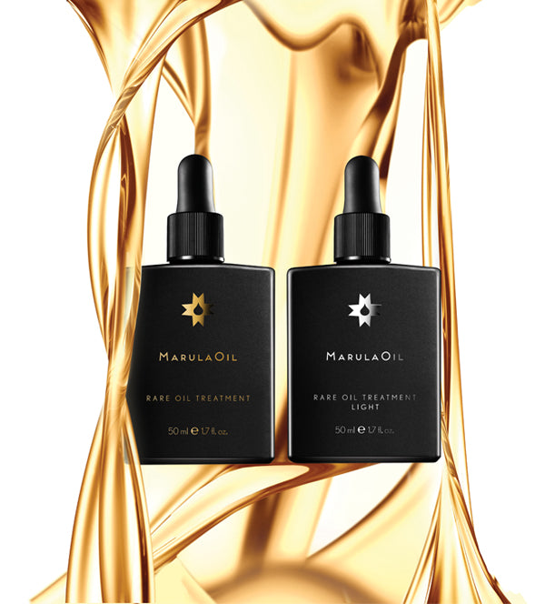 image of the marulaoil rare oil treatment bottles