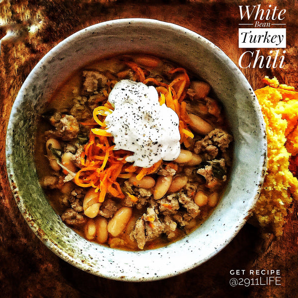 White Bean Turkey Chili with Caramelized Butternut Squash