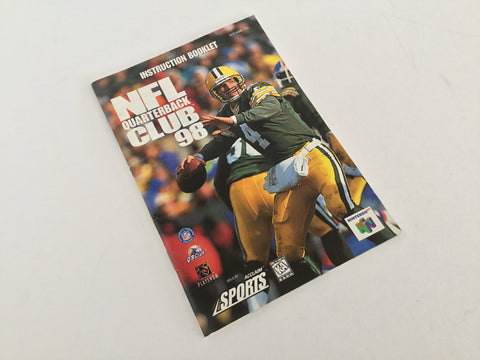 NFL Quarterback Club Instruction Manual - N64 (FREE with purchase)