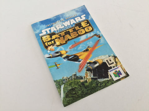 Star Wars Battle Of Naboo Instruction Manual - N64 (FREE with purchase)