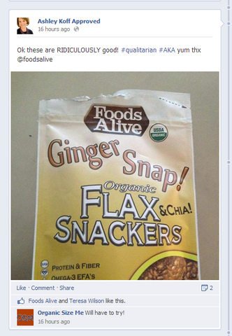 Ashley Koff Approves Foods Alive Products