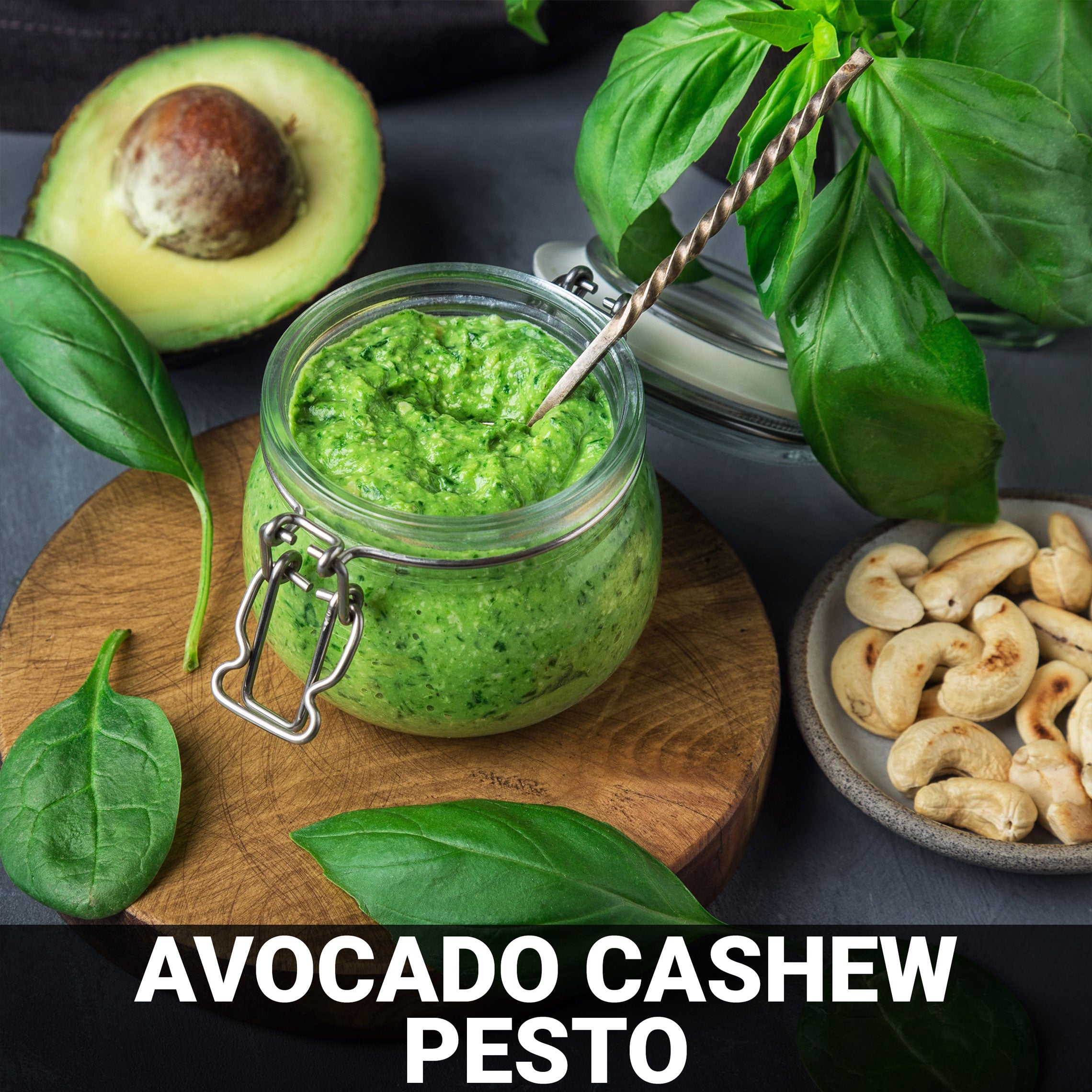 Avocado‐Cashew Pesto Recipe - Foods Alive