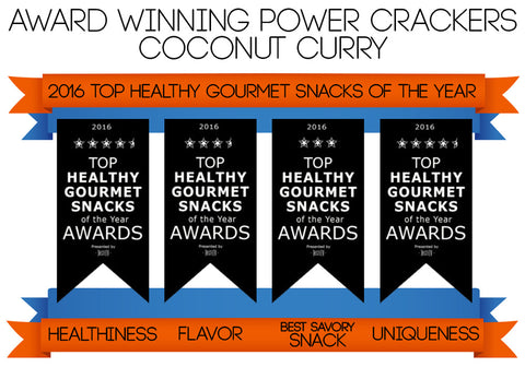 Taste TV Award Winning Coconut Curry Power Crackers