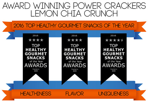 Taste TV Award Winner - Lemon Chia Crunch Power Crackers
