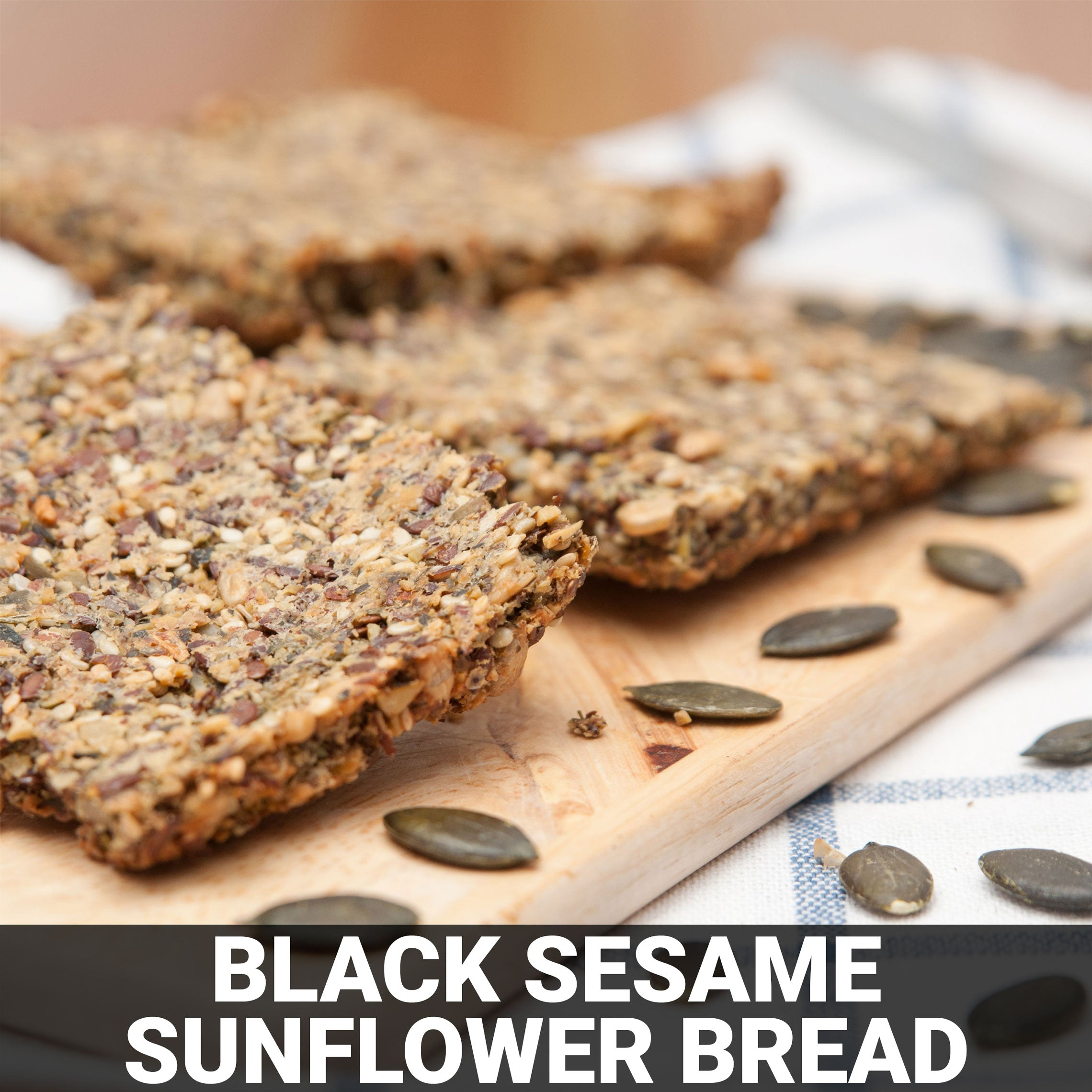 Black Sesame Sunflower Bread Recipe - Foods Alive