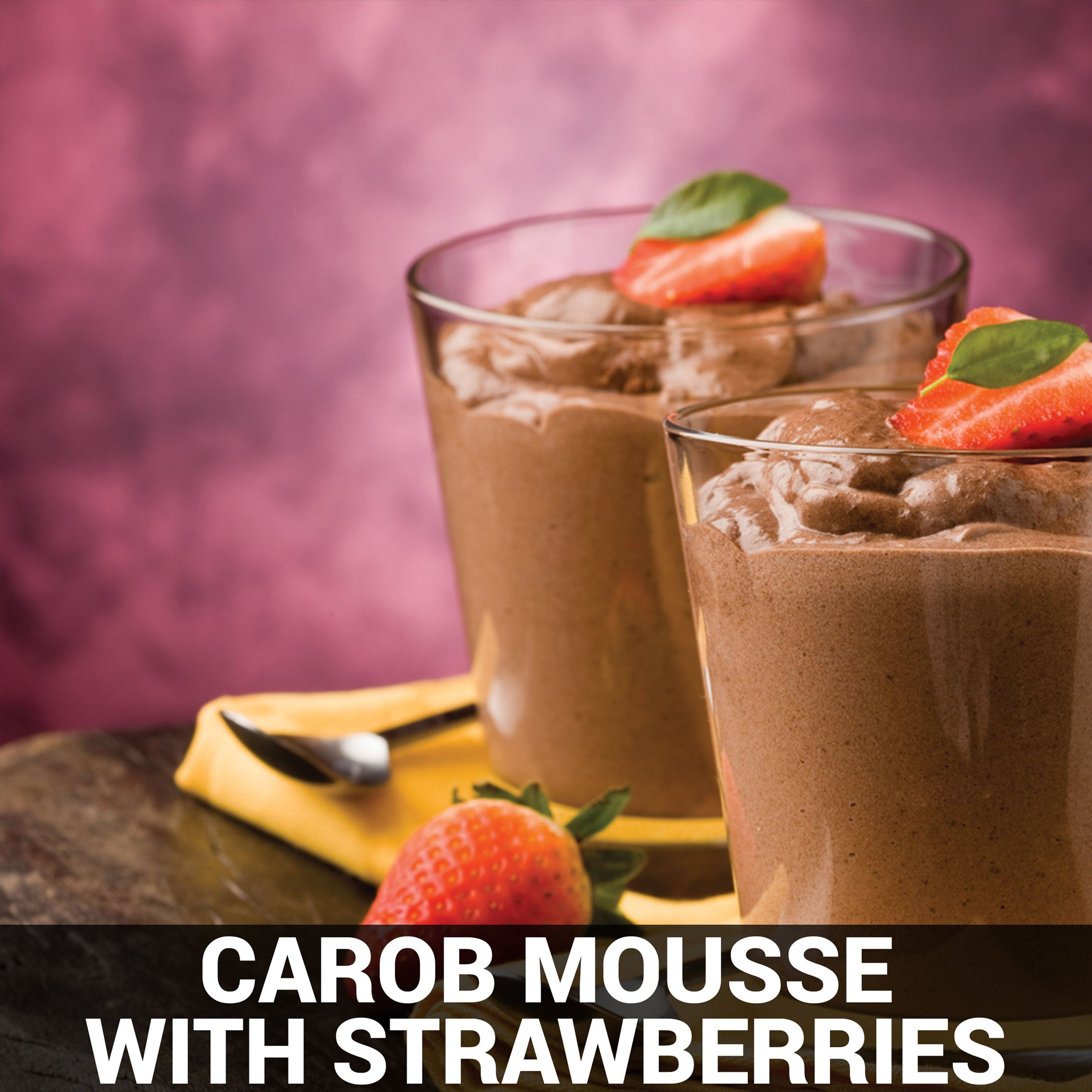 Carob Mousse with Strawberries Recipe - Foods Alive