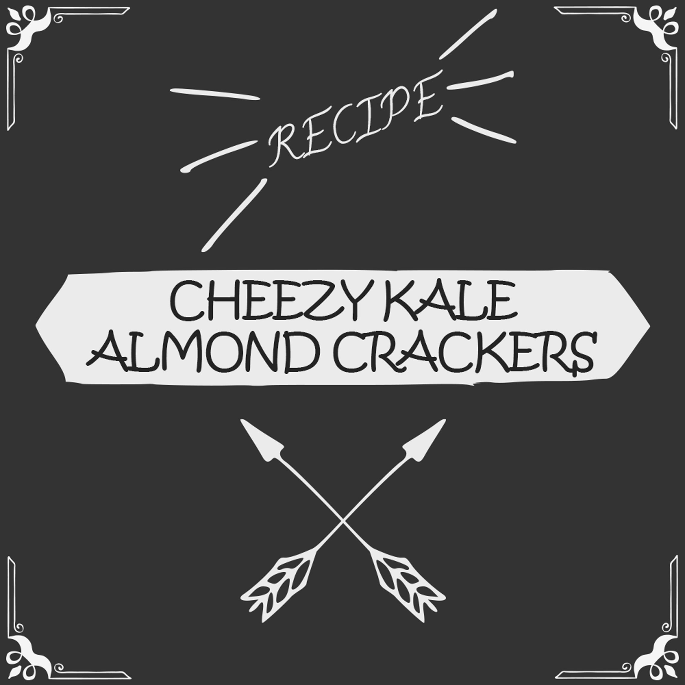Cheezy Kale Almond Crackers Recipe - Foods Alive