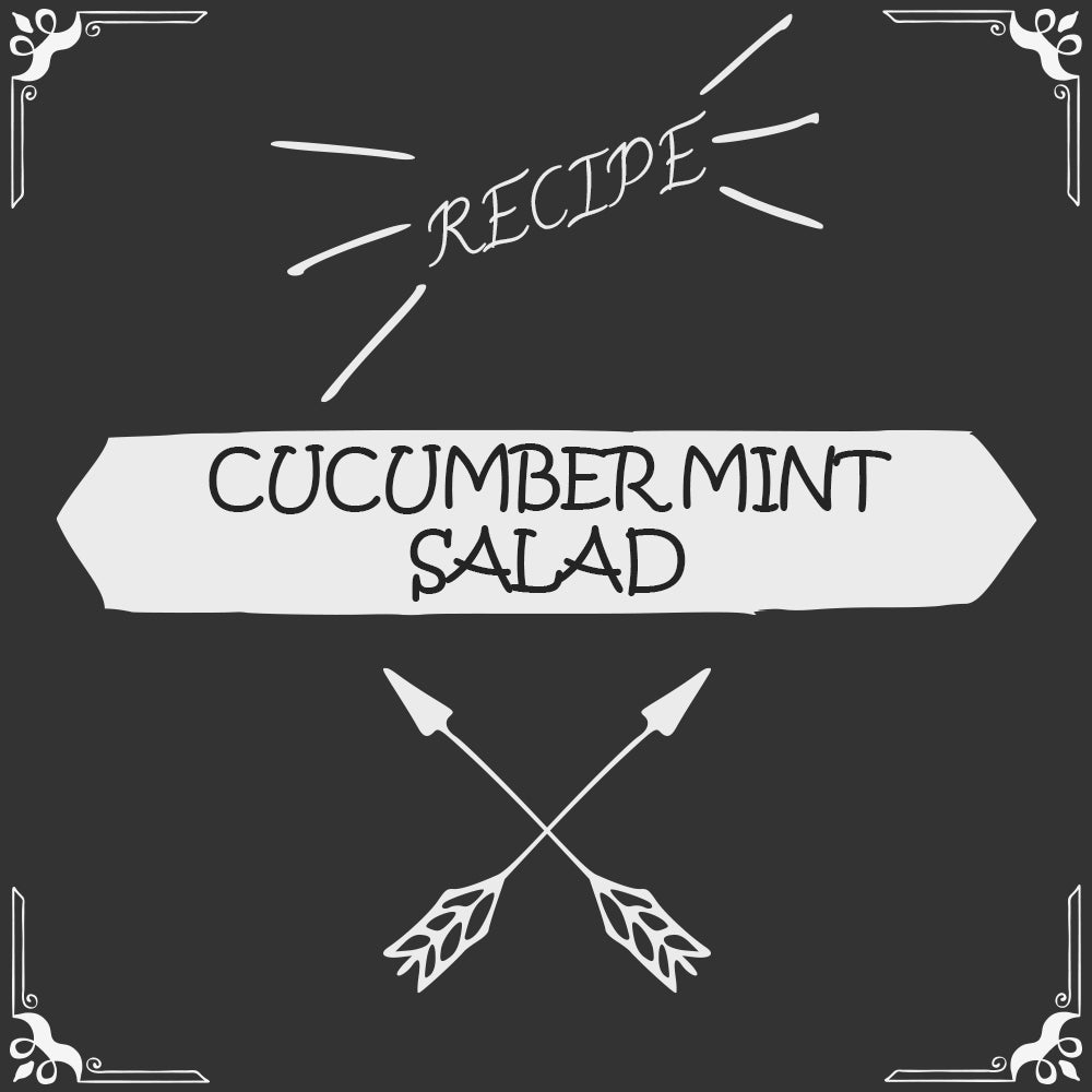 Cucumber Mint Salad Recipe - Foods Alive