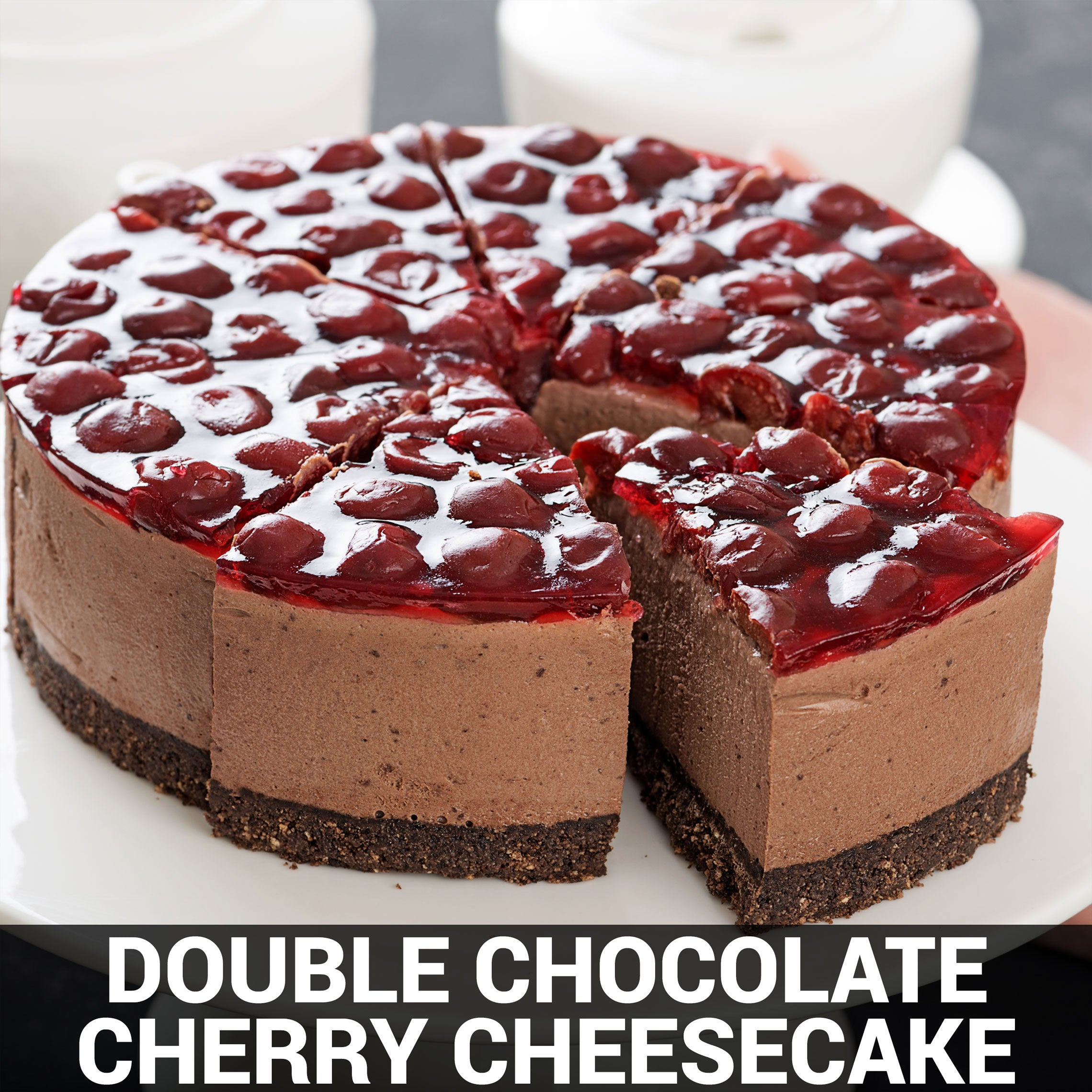 Double Chocolate Cherry Cheesecake Recipe - Foods Alive