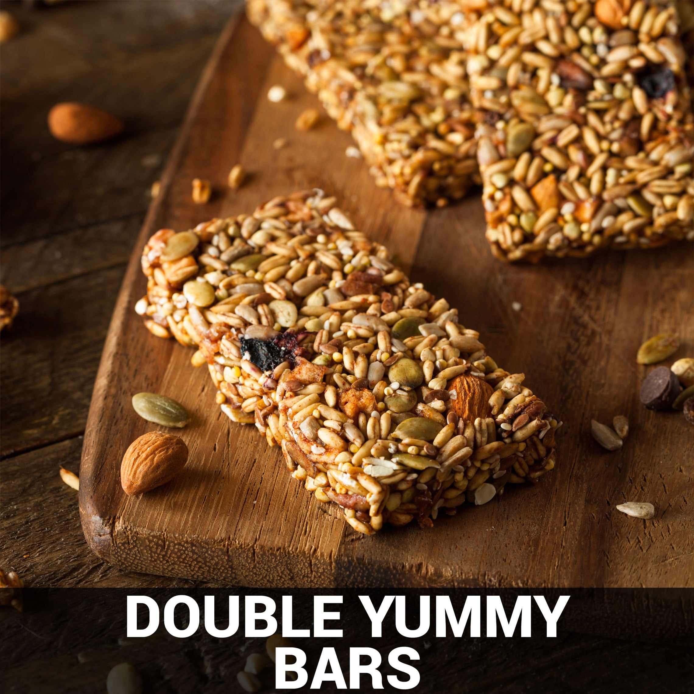 Double Yummy Bars Recipe - Foods Alive