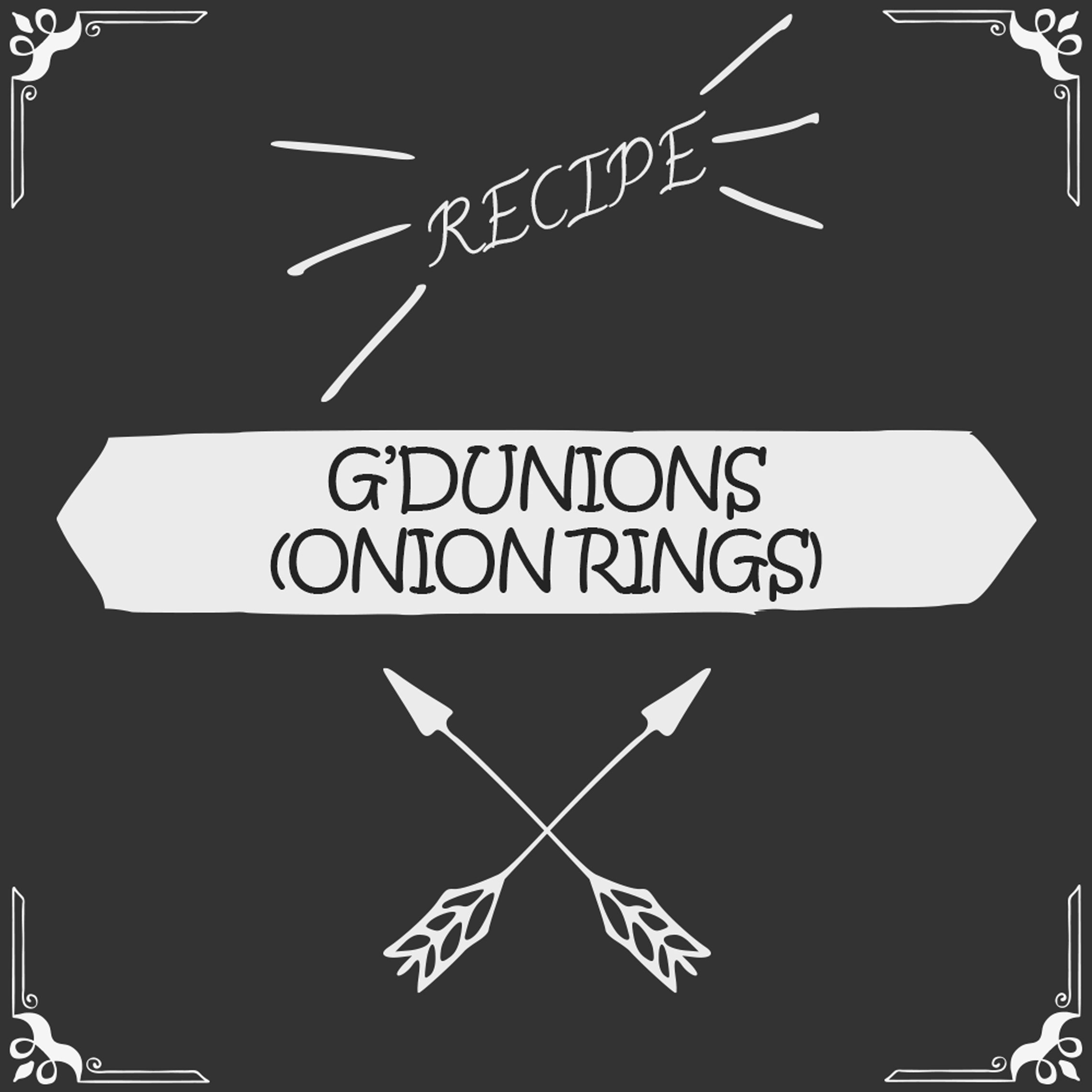 G'dunions (Onion Rings) Recipe - Foods Alive