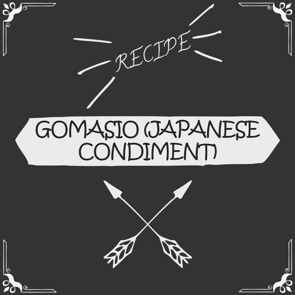 Gomasio (a Japanese condiment) Recipe - Foods Alive
