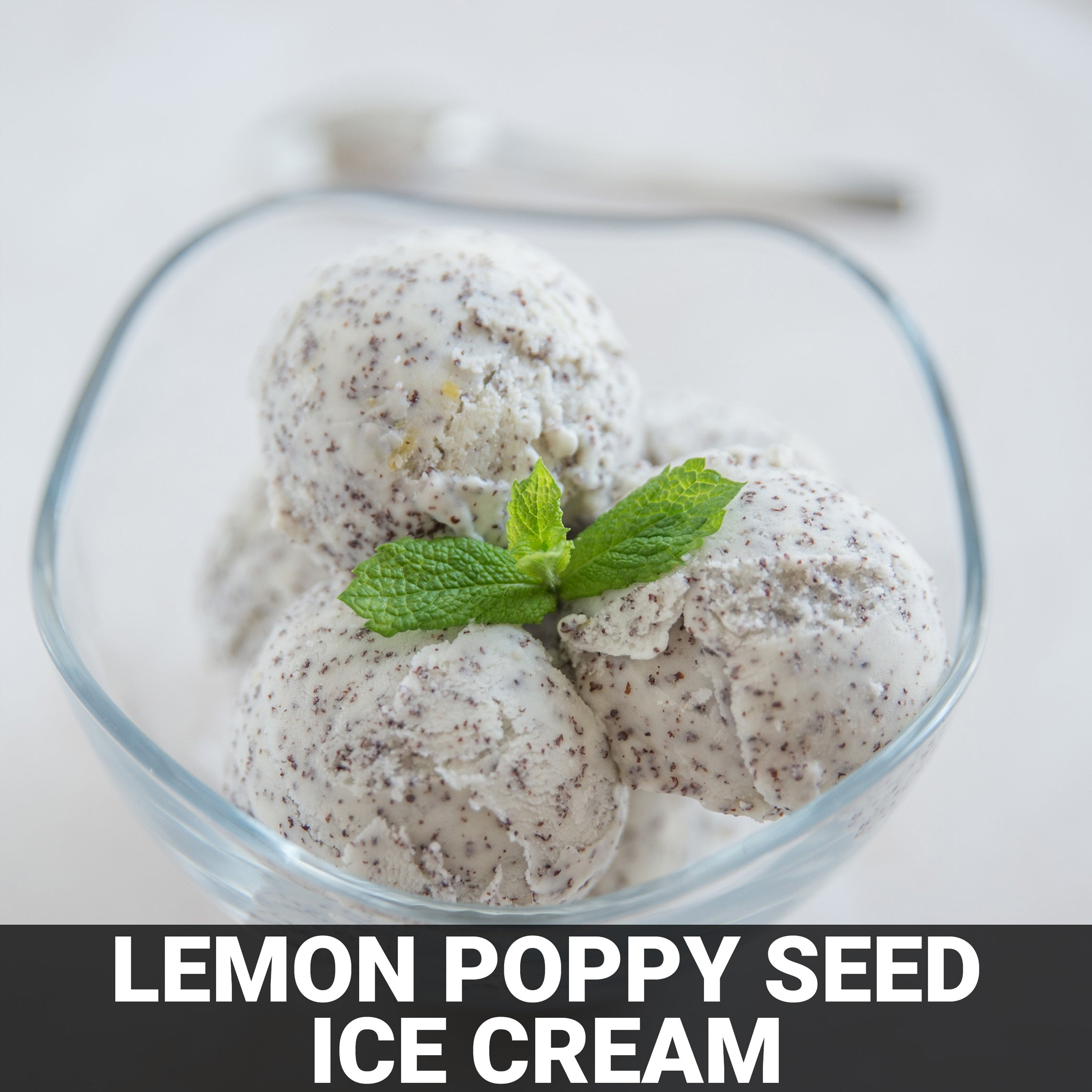 Lemon Poppy Seed Ice Cream with Strawberry Sauce Recipe - Foods Alive
