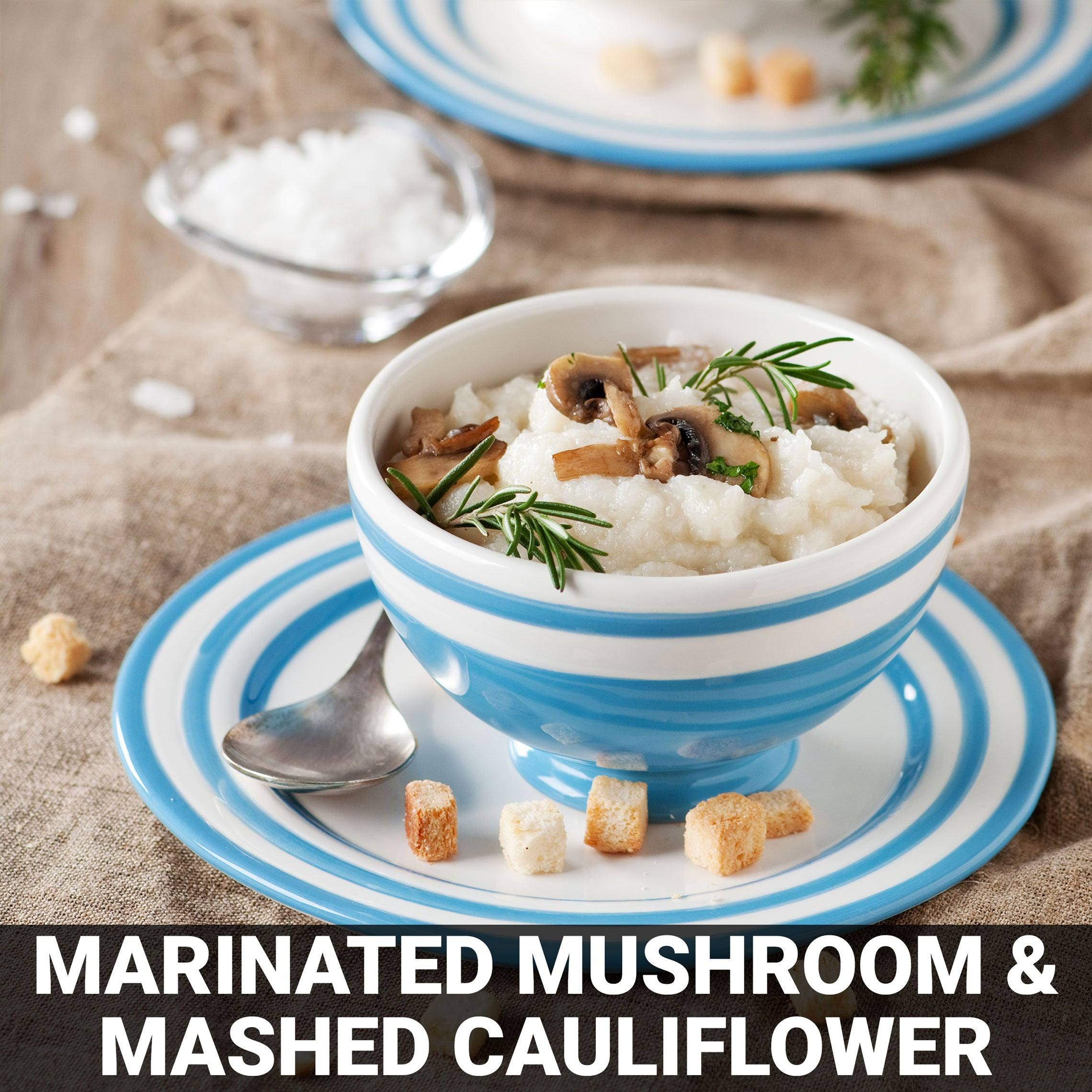 Marinated Mushrooms and Mashed Rosemary Cauliflower Recipe - Foods Alive