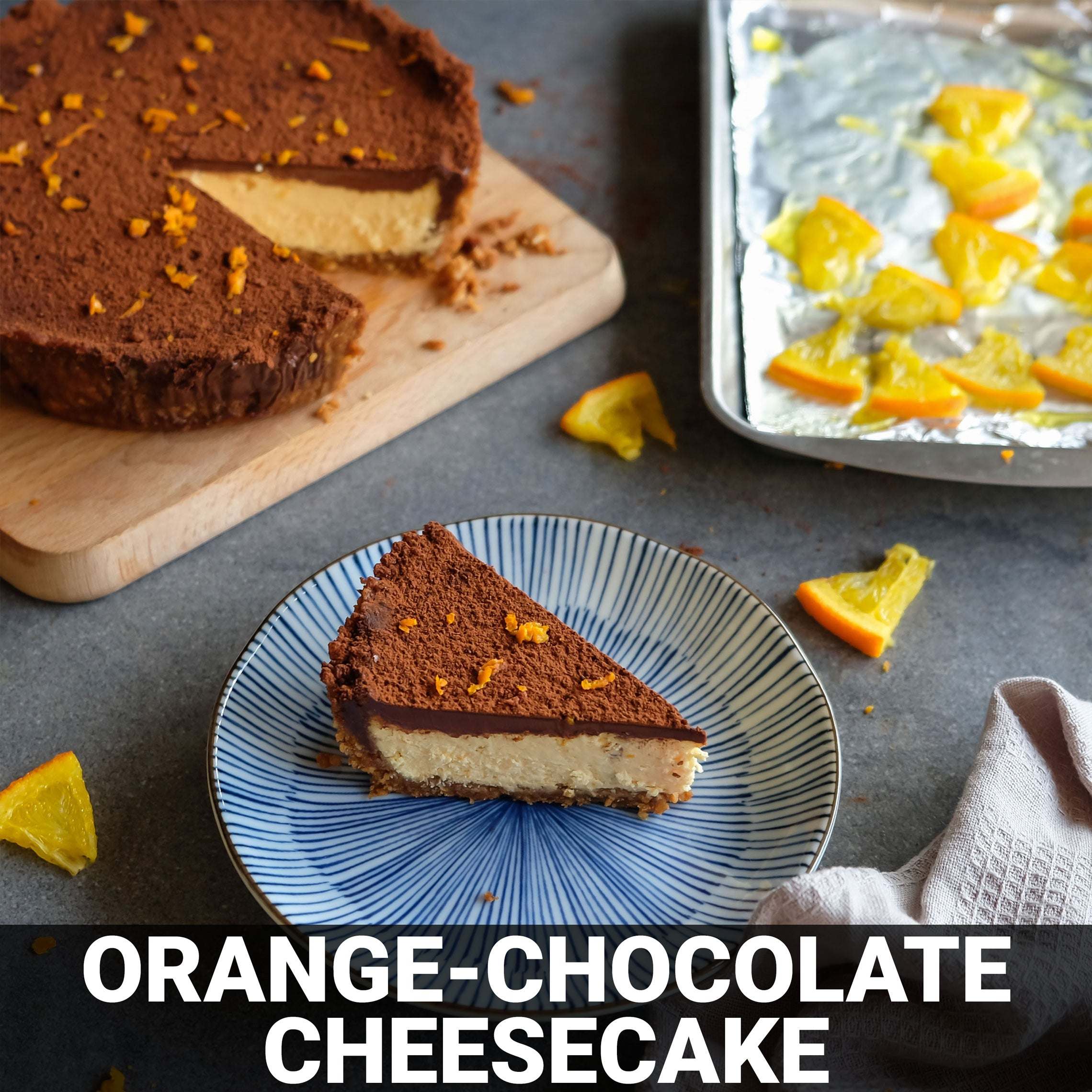 Orange-Chocolate Cheesecake Recipe - Foods Alive