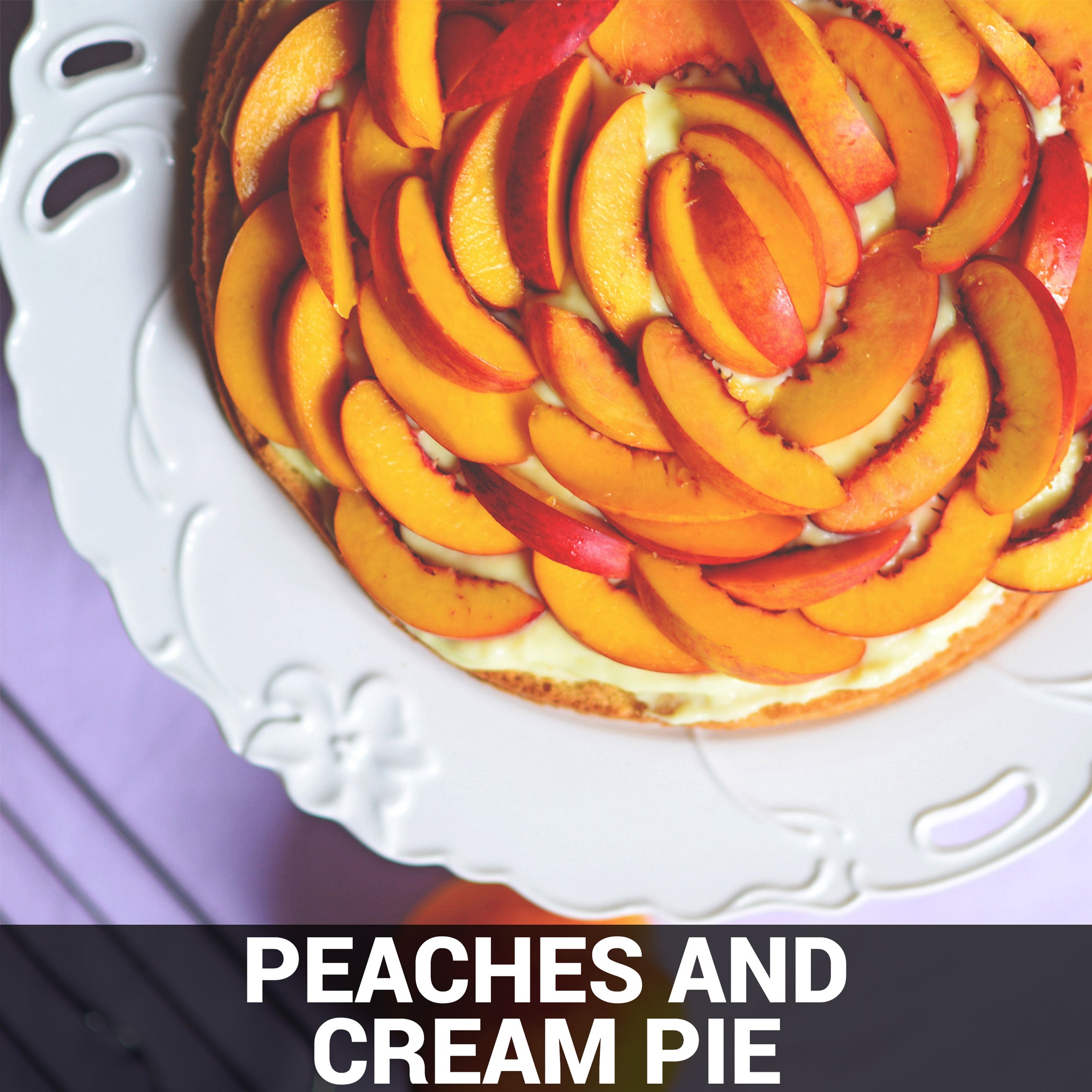 Peaches and Cream Pie Recipe - Foods Alive