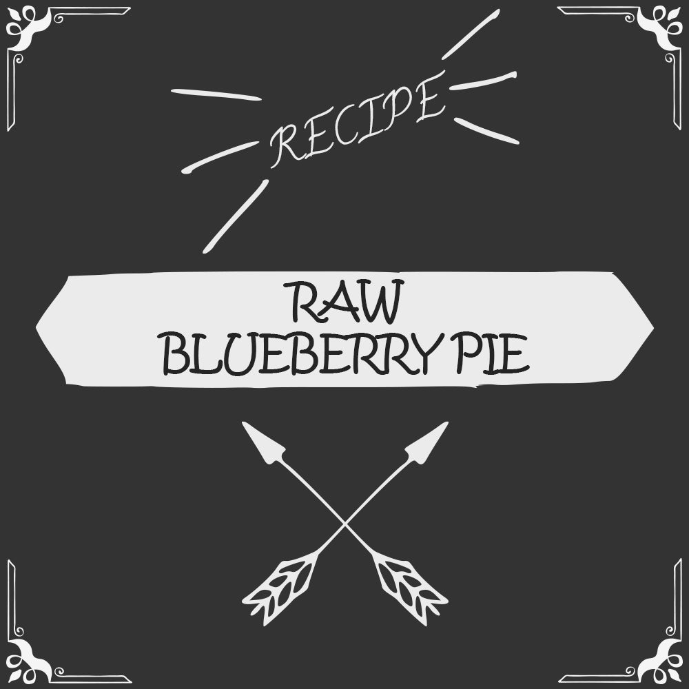 Raw Blueberry Pie Recipe - Foods Alive