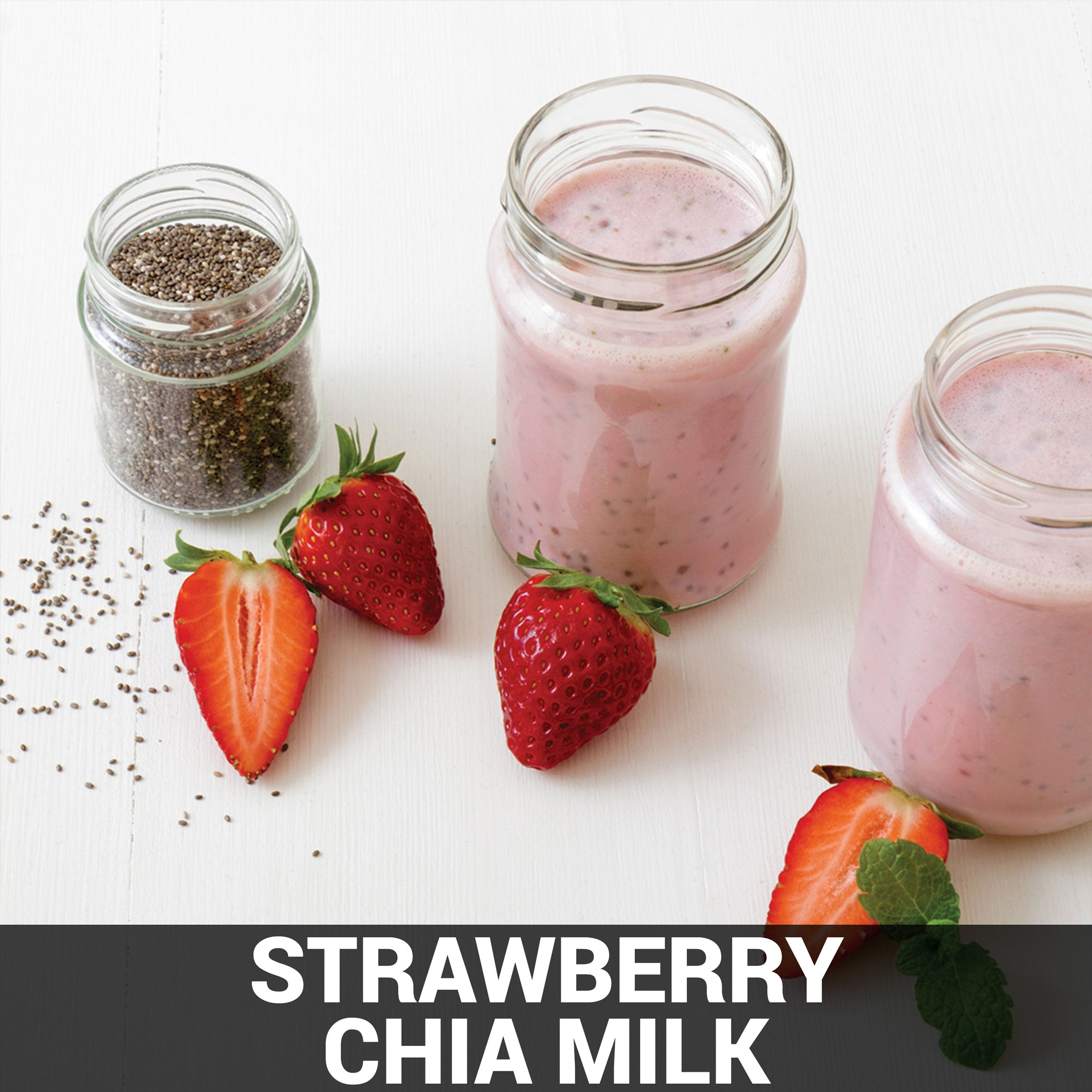 Strawberry Chia Milk Recipe - Foods Alive