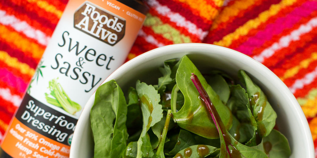 Organic Sweet & Sassy Salad Dressing | Artisan Cold-Pressed Hemp Oil | Raw, Vegan, Gluten Free, Kosher | Foods Alive