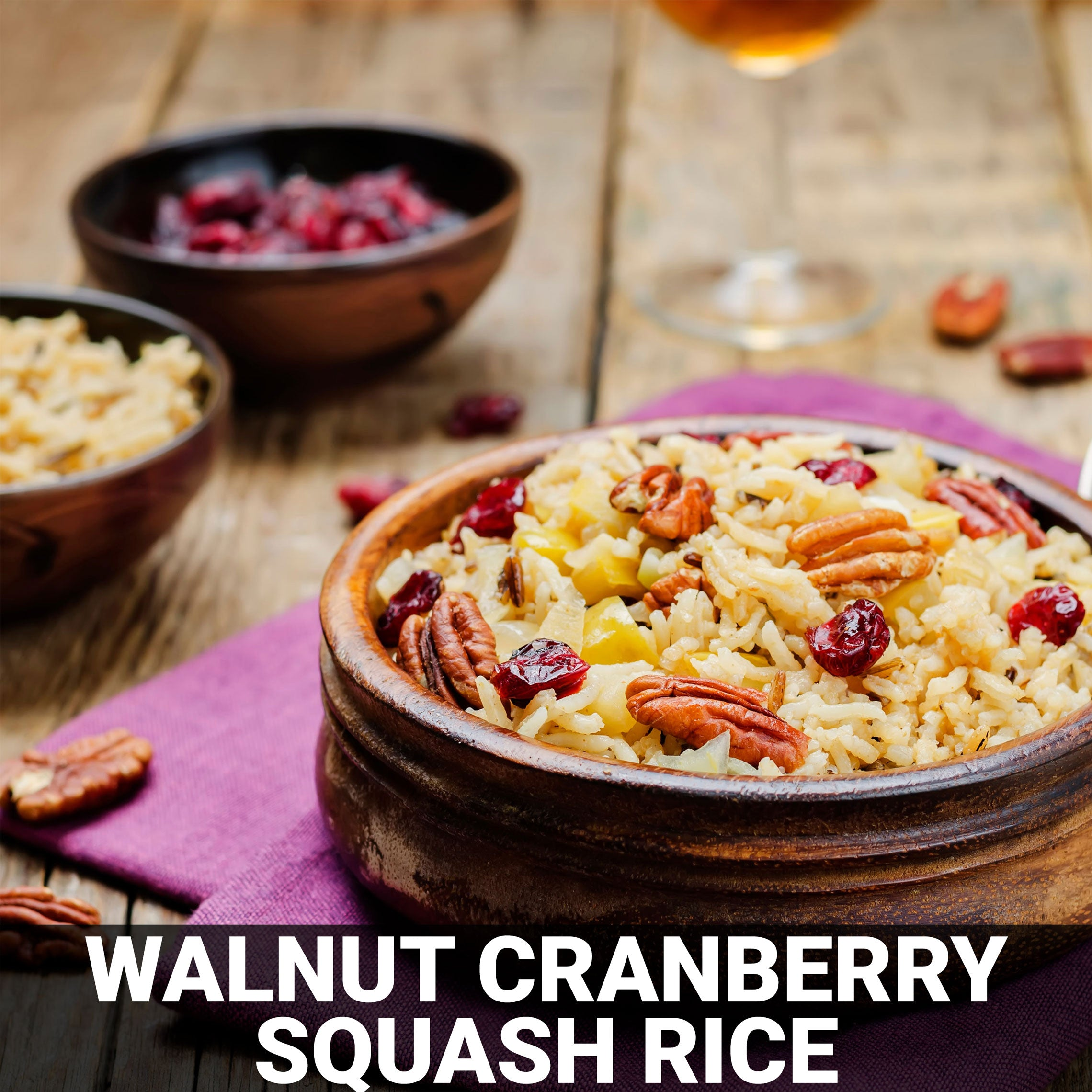 Walnut Cranberry Squash Rice Recipe - Foods Alive