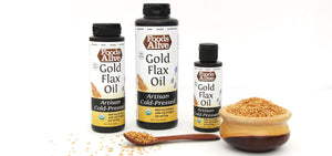 Foods Alive Artisan Cold-Pressed Oils - Gold Flax Oil - Organic