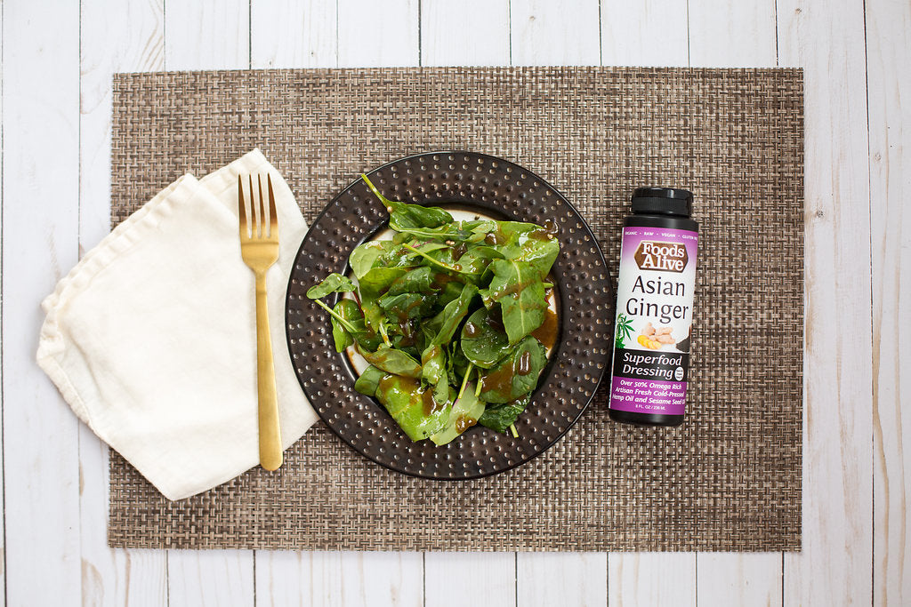 Organic Artisan Cold-Pressed Asian Ginger Dressing with Hemp Oil & Black Sesame Oil | Foods Alive